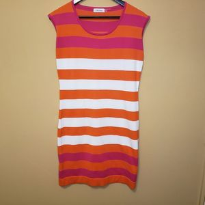 Calvin Klein Small Pink/Orange Dress